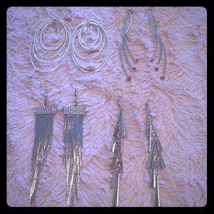 Long dangle earrings bundle